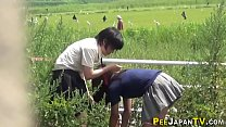 Free download video bokep Japanese teen babes pee
