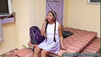 Latin teen gets facial video