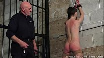 Strict whipping of amateur slave Lolani and spanking punishment of striped masoc Preview