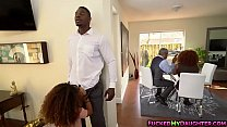 Petite ebony Kendall Woods gets a hardcore fuck Thumbnail