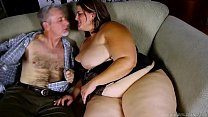 Image: Beautiful BBW with nice big tits loves to suck and fuck