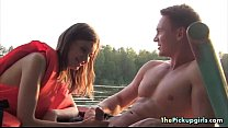 Two Guys Want Blowjobs On A Boat Thumbnail