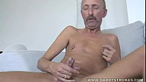 Pirced Dildo Daddy Jerking Off