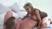 Hot MILF Sonia's husband lets her suck cock with a stranger thumbnail