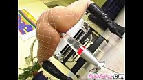 Give Me Pink Cynthia puts speculum in slit and rides a 20 inch toy