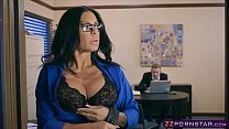 Busty latina MILF fucks the bank clerk to get a...