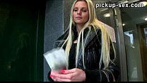 Busty Eurobabe Katka convinced to fuck with stranger for money video