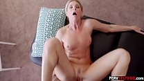 Stepson slipped fingers into stepmoms mature wet pussy preview image