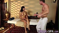 Asian babe gets cumshot preview image