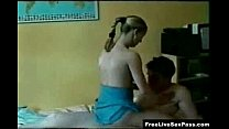 Horny Blonde Teen Riding Guy Wild On Top