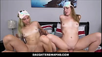 Petite Teen Daughters Everly Haze And Sophia Sweet Swap Fuck Each Others Dad's