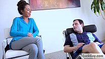 Image: Poor husband watches as his wife is getting banged by their therapist