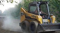 Sexy Indian Girl Driving Bobcat - Maya