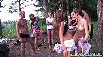 Teens Dulsineya and Jewel outdoors