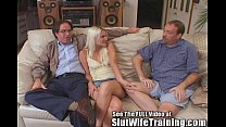 Blondie Wife Fucks 2 While Hubby Watches Image