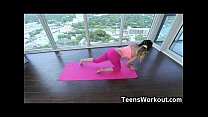 Fit Teen Gets a Hardcore Yoga Session! image