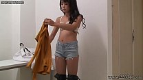 Japanese Sexy Idol Rena in Public Changing Room porn thumbnail