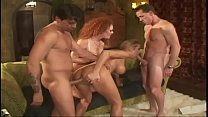 Worldwide whore Audrey Hollander with fiery locks teaches her roommate Trina Michaels to enjoy double anal