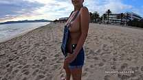 Free boobs. Topless in public