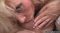 Blonde old women rides his stiff rod thumbnail