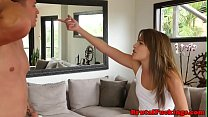 Gorgeous petite hardfucked by her stepbro Image