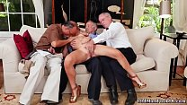 Babe big tits Frannkie And The Gang Tag Team A Door To Door Saleswoman pornhub video