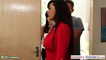 Image: Busty babes Kendra Lust and Lisa Ann fuck in threesome