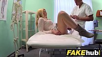 Fake Hospital Dirty doctor gives blonde Czech babe wet panties preview image