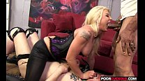 Cuckold watching his Hotwife Leya Falcon banging with a massive blace black dick preview image