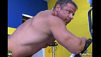 Hot gay athlete Adam Hart masturbating
