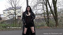 Disgraceful Faes flashing and public nudity of brunette amateur babe masturbatin Preview