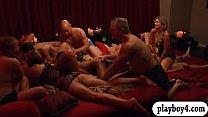 Bunch of newly couples enjoyed swinging and erotic orgy thumbnail