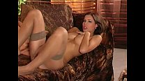MILF strip and tease in panties and stockings video
