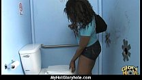 Gloryhole cock licking and sucking interracial 2