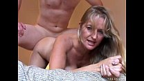 Beautiful mature blonde Vickie enjoys a sexy af...