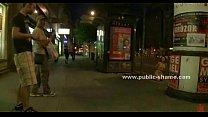 Image: People on streets watch fucked slut