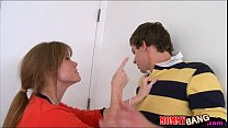 Pretty teen Maddy Oreilly 3some with her bf and stepmom Thumbnail