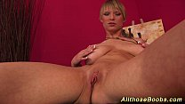 hot babe with extreme big naturals preview image