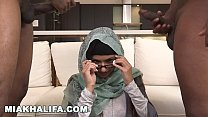 MIA KHALIFA - Big Tits Arab Pornstar Ches On BF with Two Black Studs - 9Club.Top