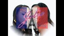 Stunning identical lesbian twins, sexy ebony French twin. thumbnail