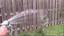 Redhead MILF Marcy Diamond Gets Sprayed in Backyard by BBC