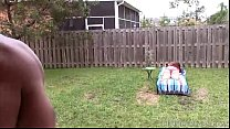 Redhead MILF Marcy Diamond Gets Sprayed in Backyard by BBC