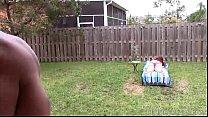Redhead MILF Marcy Diamond Gets Sprayed in Backyard by BBC thumbnail