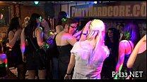Very hot gangbang in club porn image