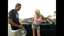 The blonde Staci Thorn in a interracial action