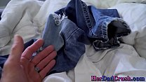 Latin stepdaughter gets rubbed