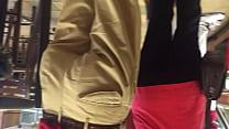 Ebiny booty in spandex leggins