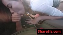 Haley Reed horny teen suck and ride cock in car Thumbnail