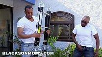 BLACKS ON MOMS - MILF Reena Sky Getting Railed By Two Black Painters - VideoMakeLove.Com