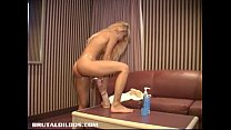 Amateur petite Quebec blonde brutalized by huge...